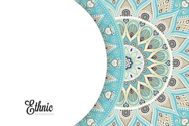 Kolorowy szablon tła mandali