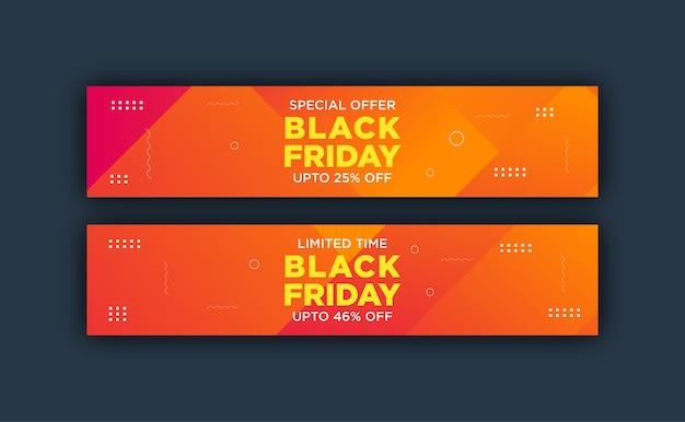 Kolorowy szablon transparent na czarny piątek