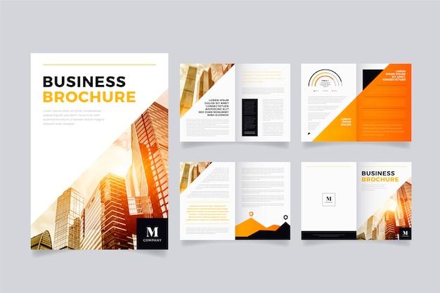 Kolorowy szablon układu broszury