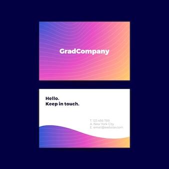 Kolorowy szablon wizytówki gradientowej