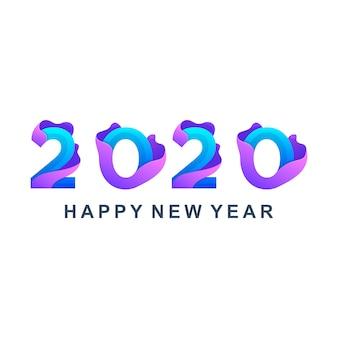 Kolorowy szczęśliwego nowego roku 2020