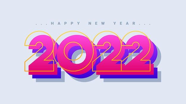 Kolorowy szczęśliwego nowego roku 2022