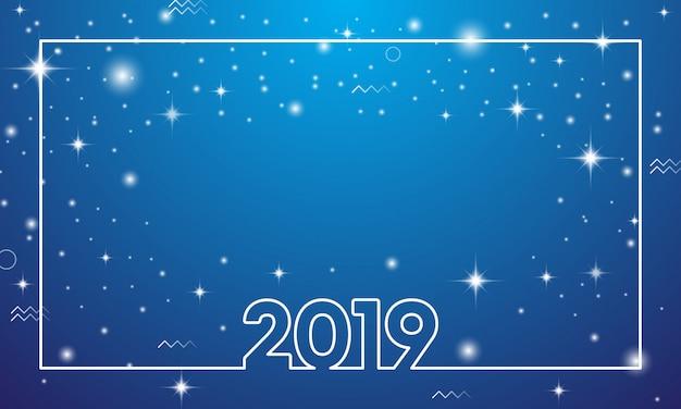 Kolorowy szczęśliwy nowy rok 2019