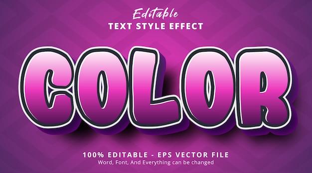 Kolorowy tekst na fioletowym efekcie gradientowym, edytowalny efekt tekstowy