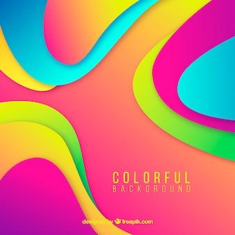 Kolorowy tło z abstrakcjonistycznymi kształtami