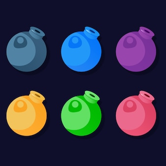 Kolorowy, tradycyjny, bomba, pojemniki na broń