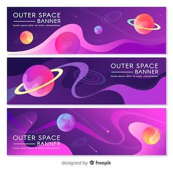 Kolorowy transparent przestrzeni kosmicznej