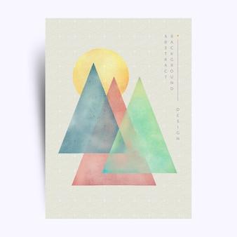 Kolorowy trójkąt ręcznie malowane, abstrakcyjne tło sztuki tapety