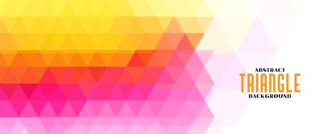 Kolorowy trójkątny wzór geometryczny transparent geometric