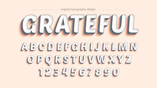 Kolorowy typografia śmiały cień