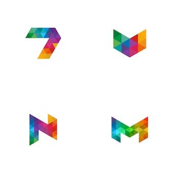 Kolorowy tytuł logo
