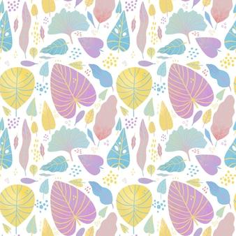 Kolorowy układ różnych liści wzór