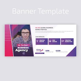 Kolorowy web banner design