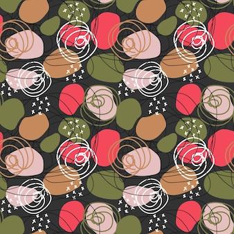 Kolorowy wektor bezszwowy abstrakcyjny wzór o różnych kształtach