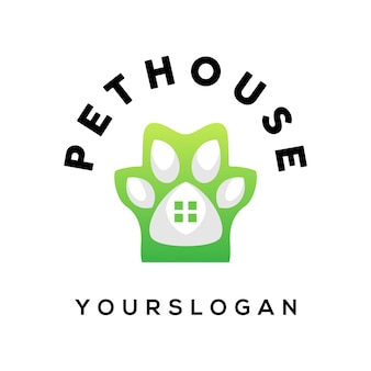 Kolorowy wektor projektu logo domu dla zwierząt