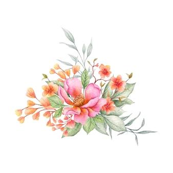 Kolorowy wiosenny bukiet kwiatów