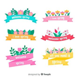 Kolorowy wiosenny pakiet wstążki