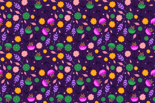 Kolorowy wygaszacz ekranu w kwiatowy wzór