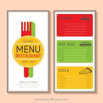 Kolorowy wygląd menu
