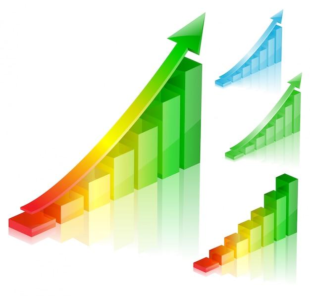 Kolorowy wykres sukcesu