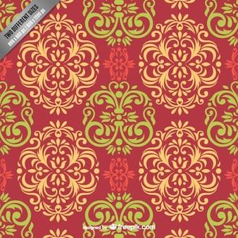 Kolorowy wzór adamaszku