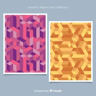 Kolorowy wzór broszury izometryczny