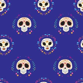 Kolorowy wzór czaszki