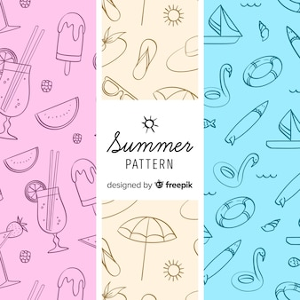 Kolorowy wzór elementu lato