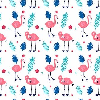 Kolorowy wzór flaminga