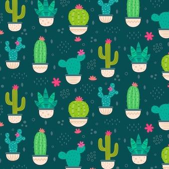 Kolorowy wzór kaktusa