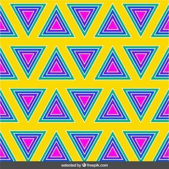 Kolorowy wzór koncentrycznych trójkąty