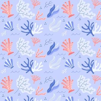 Kolorowy wzór koralowców