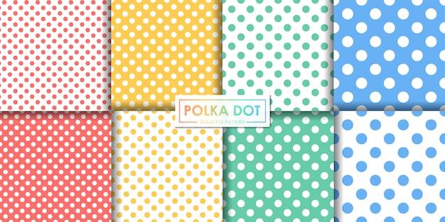 Kolorowy wzór kropki zestaw, streszczenie tło, tapety dekoracyjne.