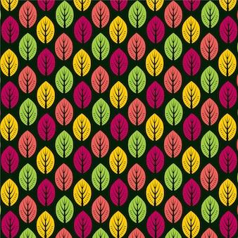 Kolorowy wzór liścia