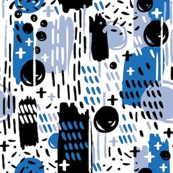 Kolorowy wzór memphis kształtów