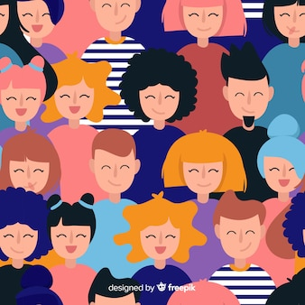 Kolorowy wzór młodych ludzi