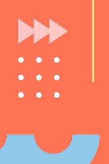 Kolorowy wzór o abstrakcyjnych kształtach