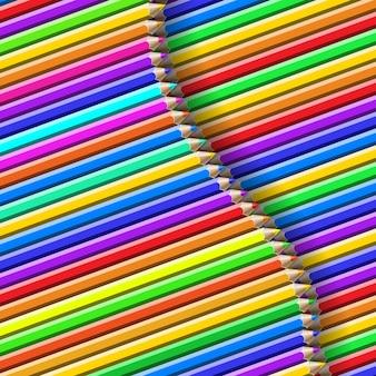 Kolorowy wzór ołówka