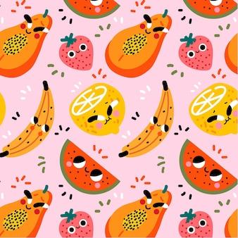 Kolorowy wzór owoców