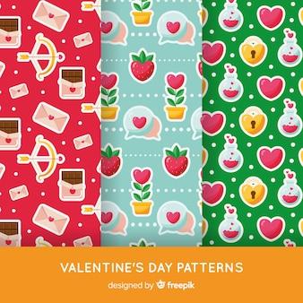 Kolorowy wzór paczka valentine