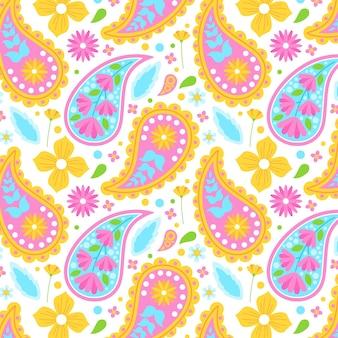 Kolorowy wzór paisley