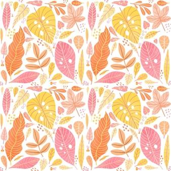 Kolorowy wzór różnych liści
