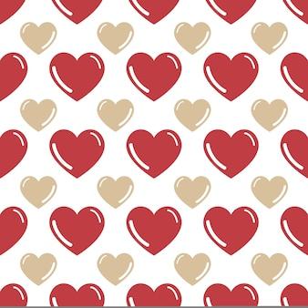 Kolorowy wzór serca. walentynki tło dla szablonu wakacje. kreatywna i luksusowa ilustracja w stylu