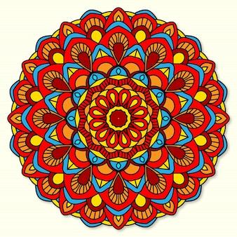 Kolorowy wzór tła mandali z pięknym ornamentem
