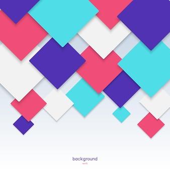 Kolorowy wzór tła z geometrycznymi rombami