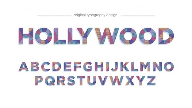 Kolorowy wzór typografii