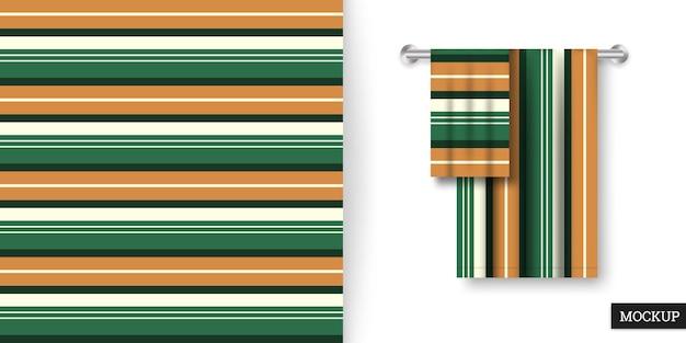 Kolorowy wzór w paski i makieta