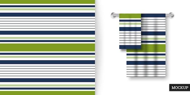 Kolorowy Wzór W Paski I Ręczniki Premium Wektorów