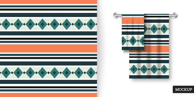 Kolorowy wzór w paski i ręczniki