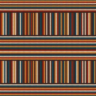 Kolorowy wzór w paski z dzianiny